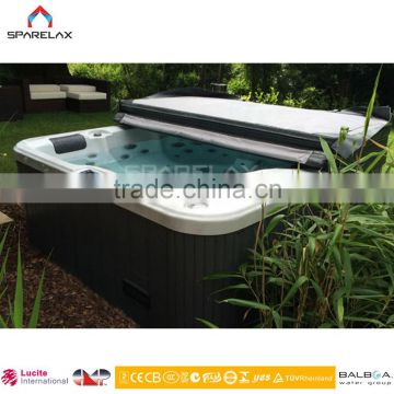 Wholesale china factory Simple small acrylic bath tub with PU pillow