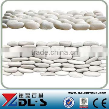 White Round Pebble Stone Tiles White Pebble Tile