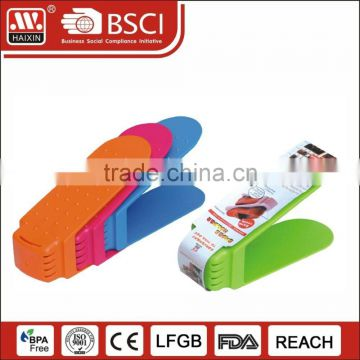 Custom shoes boxes with a lid storage boxes bins transparent plastic shoes box for high heels/flat shoes shipping