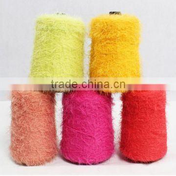 Soft 100% colored nylon feather yarn 1-60nm for knitting sweater