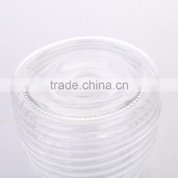 Set 3 Clear Coned Shape Threaded Glass Storage Canister Jars with Metal Lid