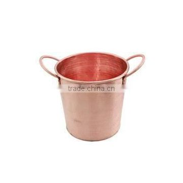 copper plated shiny wine bucket