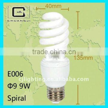 hot sale 3-9W Half Spiral Energy Saving Lamp(good quality&best price)