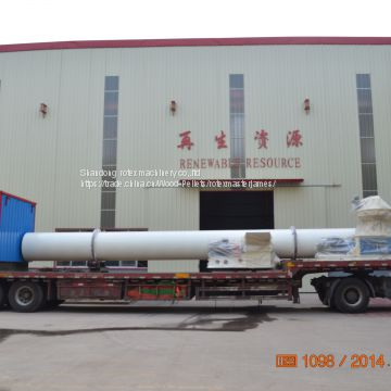 Firewood Wood Chips PKS High Quality Performance Rotary Dryer Machine