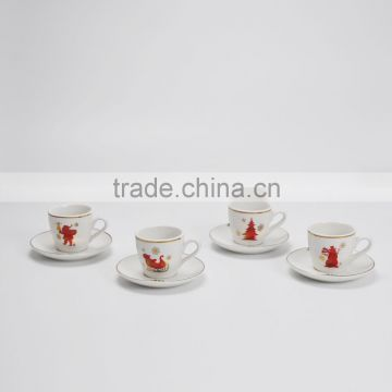 High Quality Ceramic Cup and Saucer , White Coffee Set and Tea Cups