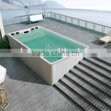 7 meters long swimming pool;Liquid Acrylic Swimming Spa;swimming pool for hotel,cottage and passenger liner use