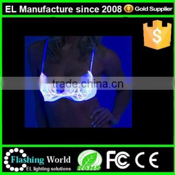led lights sexy stage performance costumes beautiful ladies sexy panty and bra sets women hot sexy bra design images