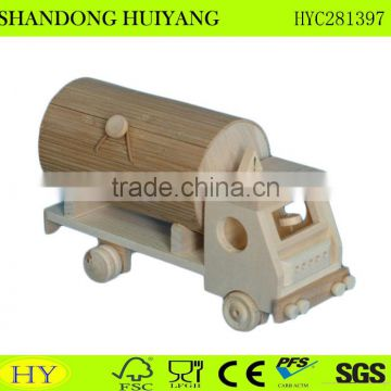 cheap custom natural unfinished wood toy car