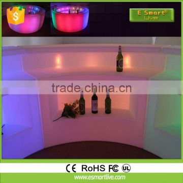 Battery Rechargeable Plastic Glowing cool led bar counter design Bar Led Furniture Table&&led Furniture
