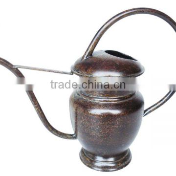 Small Metal Watering Can, Heart Design Made of Metal Iron.