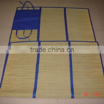 customzied color foldable straw beach mat