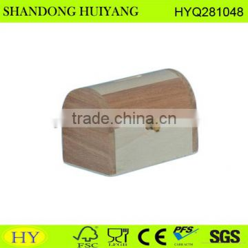 FSC poplar and china berry wood money box wholesale