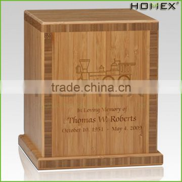 Bamboo cremation urn personalized urns Homex BSCI/Factory