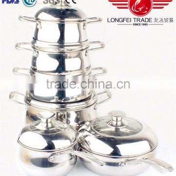 hot selling stock promation 16-24CM stainless steel pot set