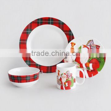 16pcs porcelain dinner set with Christmas Decal