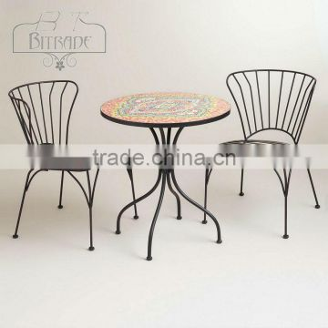 metal garden furniture set