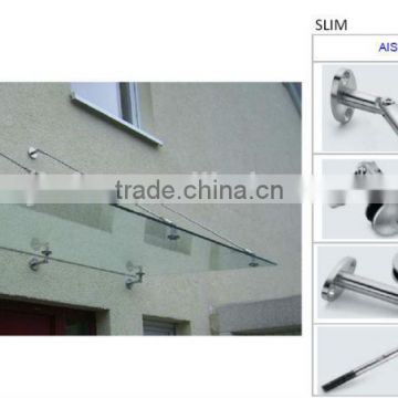 Stainless Steel Glass Canopy Slim Type