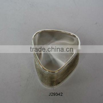 Brass Napkin Ring With silver plating