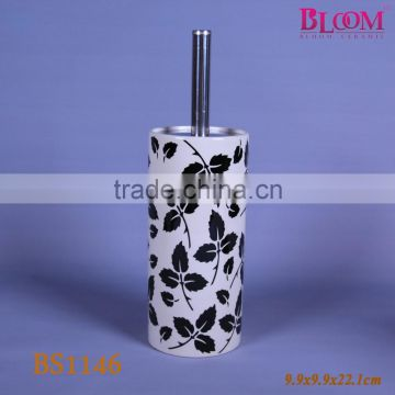 Customized ceramic toilet brush holder