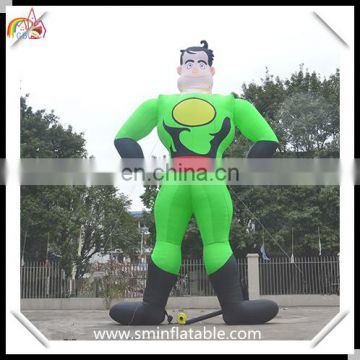 Hot sale inflatable superman, inflatable superman replica, flying inflatable superhero for advertising