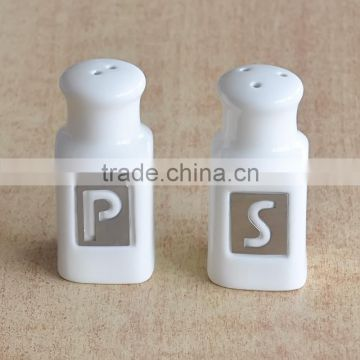 Ceramic salt and pepper shaker set