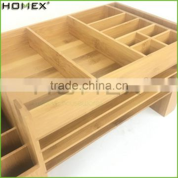 Bamboo Files Letter Desk Organizer Desk Supplies Caddy Homex-BSCI Factory