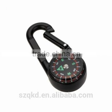3 in 1 Double Sided Mini Compass Keychain Thermometer Military Outdoor Compass