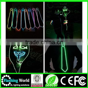 aesthetic appearance modern and elegant in fashion electroluminescent necktie