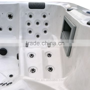 Large leisure bay spas lazy spa hot tub stainless steel tubs(A860)