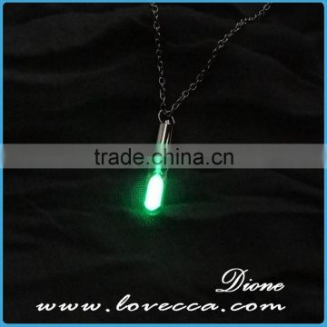 Valentines Day Gift glowing necklace , glow in the dark heart pendant luminous necklace