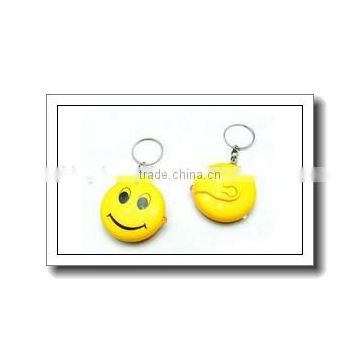Mini smile face design LED keychain