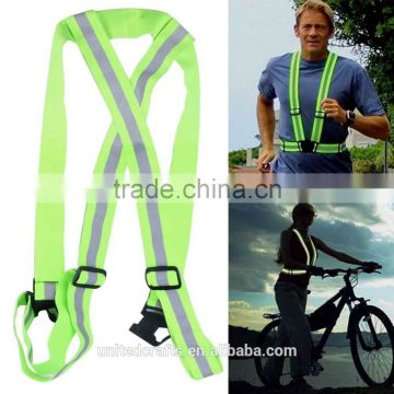 High Adjustable Safety Security Visibility Reflective Vest Gear Stripes Jacket