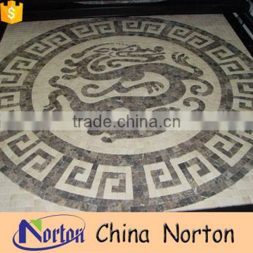 Norton classical Chinese dragon water jet marble medallion mosaic patterns NTMS-MM011L