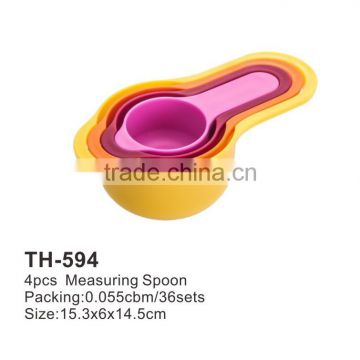 foodgrade colorful 4pcs measuring spoon set th-594