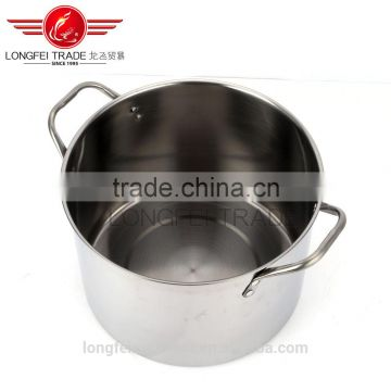 big capacity uesful high grade stainless steel soup pot set/cooking pot