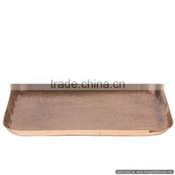 copper plated rectangle tray