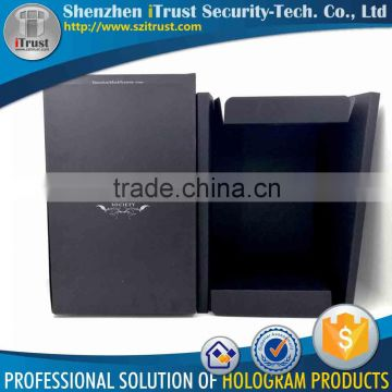 Specialize High Quality handmade offset / silk screen color printed packing black paper box package