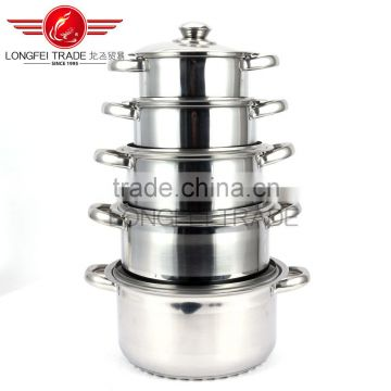 12pcs premier japanese cookware set stainless steel pot with silver colored surface