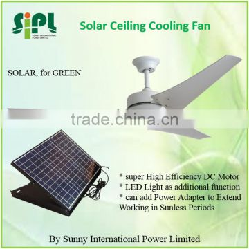 vent goods solar Air condition ceiling fan at home 60inch quiet solar ventilator fan with LED light