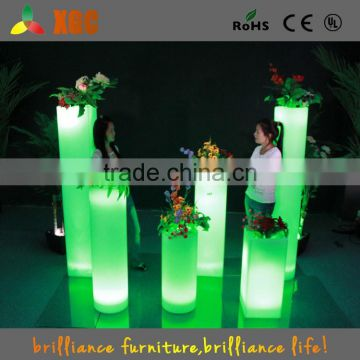 Hot sale high tech garden Led Illuminate Glowing Flower Pot outdoor led pot lights/Led Plastic Flower Vase with remote control