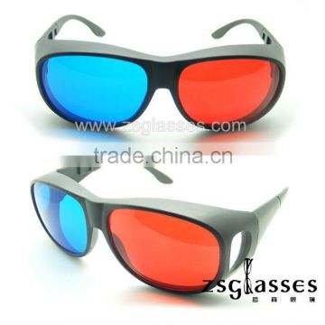 Cheap Promotion imax active red/cyan/blue 3d glass/3d glasses/3d eyewear plastic polarized polarizer film Factory Custom logo