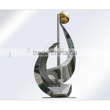Abstract Theme Stainless Steel Garden Statue Sculpture for Plaza use