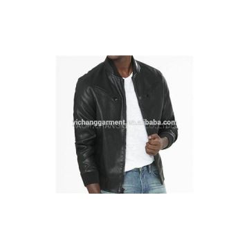 Men\'\'s Blk Lamb Bomber Leather Jackets