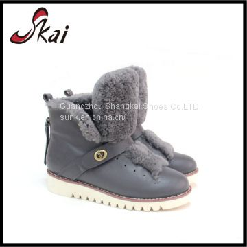Wholesale High Quality Slip -on Safety Genuine Leather Boot Woman Boot