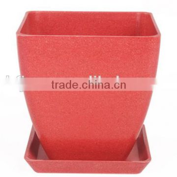 Professional Low price Endurable bamboo fiber flower pot