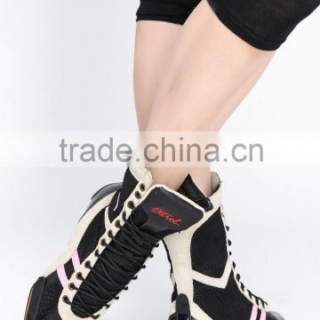 Fashion cow Leather black lace up women sneakers shoes 2016