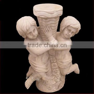 European baby angel stone pillar used for decorative