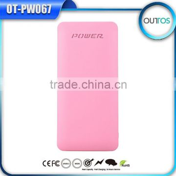 Hot Promotional Charger Booster Rohs Power Bank 10000mah With Dual Cable