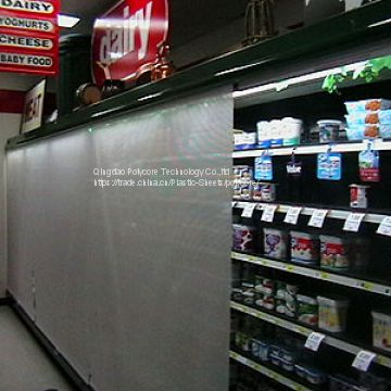 supermarket refrigeration chillers night curtain