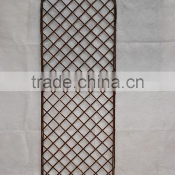 natural willow garden fence with leaf